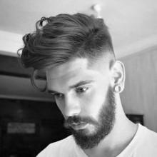 maskulinen mittlerer Länge Frisuren für Männer mit dicken Haaren fade