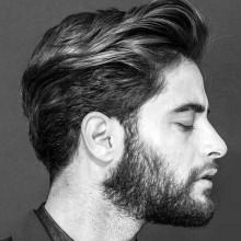 maskulinen welliges Haar Männer