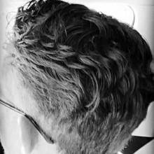 medium Dicke Haare, lockiges fade für Männer