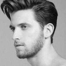 medium Frisur für Jungs dickes Haar