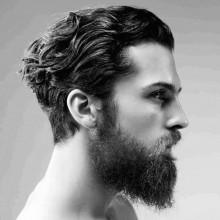 medium Frisuren für Männer mit dicken Haaren wellig