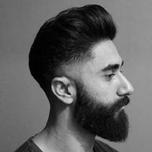 medium Haarschnitte für Jungs mit Bärten