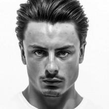 medium Länge Herren Haare zurück gekämmt Ideen
