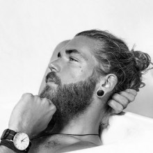 medium Länge samurai-Frisur für Männer
