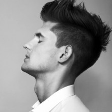 medium faux hawk-Frisur für Männer