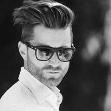 medium kurzen Frisuren für Dicke Haare für Männer