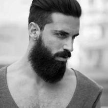 mens glatt zurück Haare