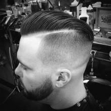 mens low-Haut-fade-Haarschnitt -