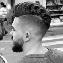 mens low fade rasierte Seite medium Haarschnitt Ideen