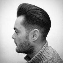 mens pompadour taper fade lange Haare