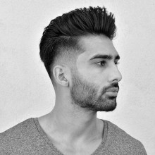 mens taper fade haircut oben lang