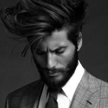 messy wellige Strömung Haarschnitt für Männer trendy