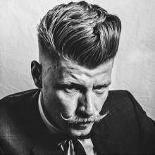 mittellang männlichen Frisuren für Dicke Haare