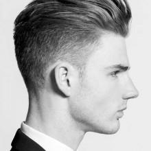 mittlere Länge Herren low-verblassen Haar style