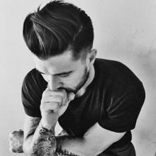 mittlerer Länge Frisuren Dicke Haare für Jungs low fade-Seiten