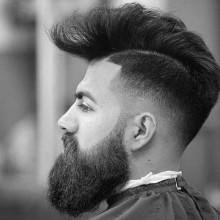 modernen Jungs gering verblasst Haarschnitte
