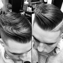modernen Kamm über Frisur für Männer