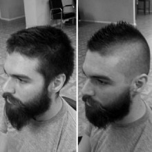 modernen fade-faux hawk Frisuren für Jungs