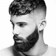 modernen männlichen kurze Haarschnitte für welliges lockiges Haar