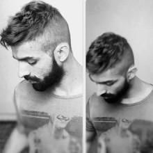 modernen wellige kurze Haare Männer