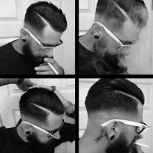 modischen Herren-Frisuren in den 1950er Jahren kurz