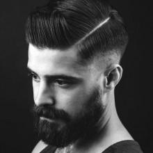 modischen harte Teil Frisur Männer