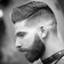 modischen männlichen Haut-fade-Haarschnitt