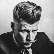 old-school-Frisuren für mittellanges Haar für Männer