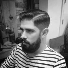 old school Herren-Haarschnitt für Herren