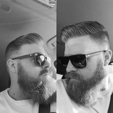 old-school-Jungs-Frisur für kurze, dünne Haare Seitenteil