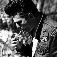 old-school-greaser rockabilly-Frisur für Jungs