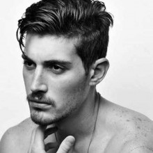 parted mittlere Länge Herren-modernen Haarschnitt Ideen