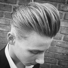 pompadour hair cut for males