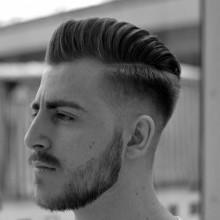 professionelle Haarschnitt, Herren hohe Haut-fade