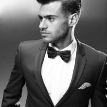 professionelle formale mens classic hair