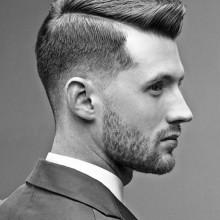 professionelle stilvolle Herren schwere Teil Frisuren