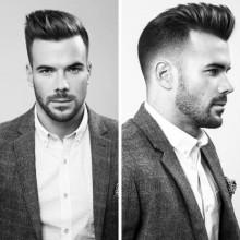 professionellen männlichen Frisuren für kurze Haare
