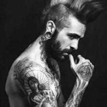 punk-Irokesen-Frisuren für Männer