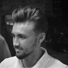 quiff chaotisch mittlere Haar Stil für Männer