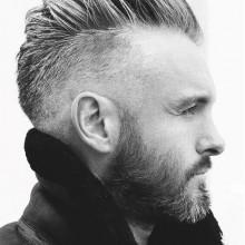 rasierte Seiten männlichen stilvolle Frisuren inspiration