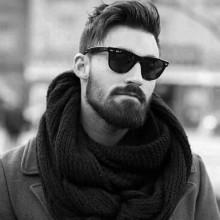 retro Herren-hipster-Frisur tolle Dicke