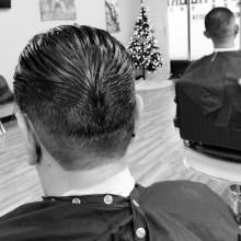 rockabilly männlichen Enten Arsch Haarschnitt designs