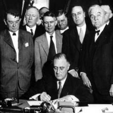 roosevelt mit Herren der 1930er Jahre männliche Frisuren