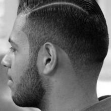 sehr kurzen harten Teil fashion foward Frisur für Jungs