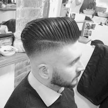 sharp Herren-Haut-fade-Haarschnitt