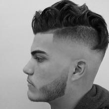short-cuts für Dicke welliges Haar für Männer