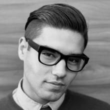 short hipster-Frisuren für Männer slicked zurück undercut