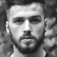 short wellige front-stilvolle Frisuren für Männer
