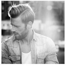 side Teil Haarschnitt für Männer