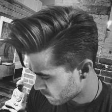 side Teil langen, dicken Frisuren für Männer